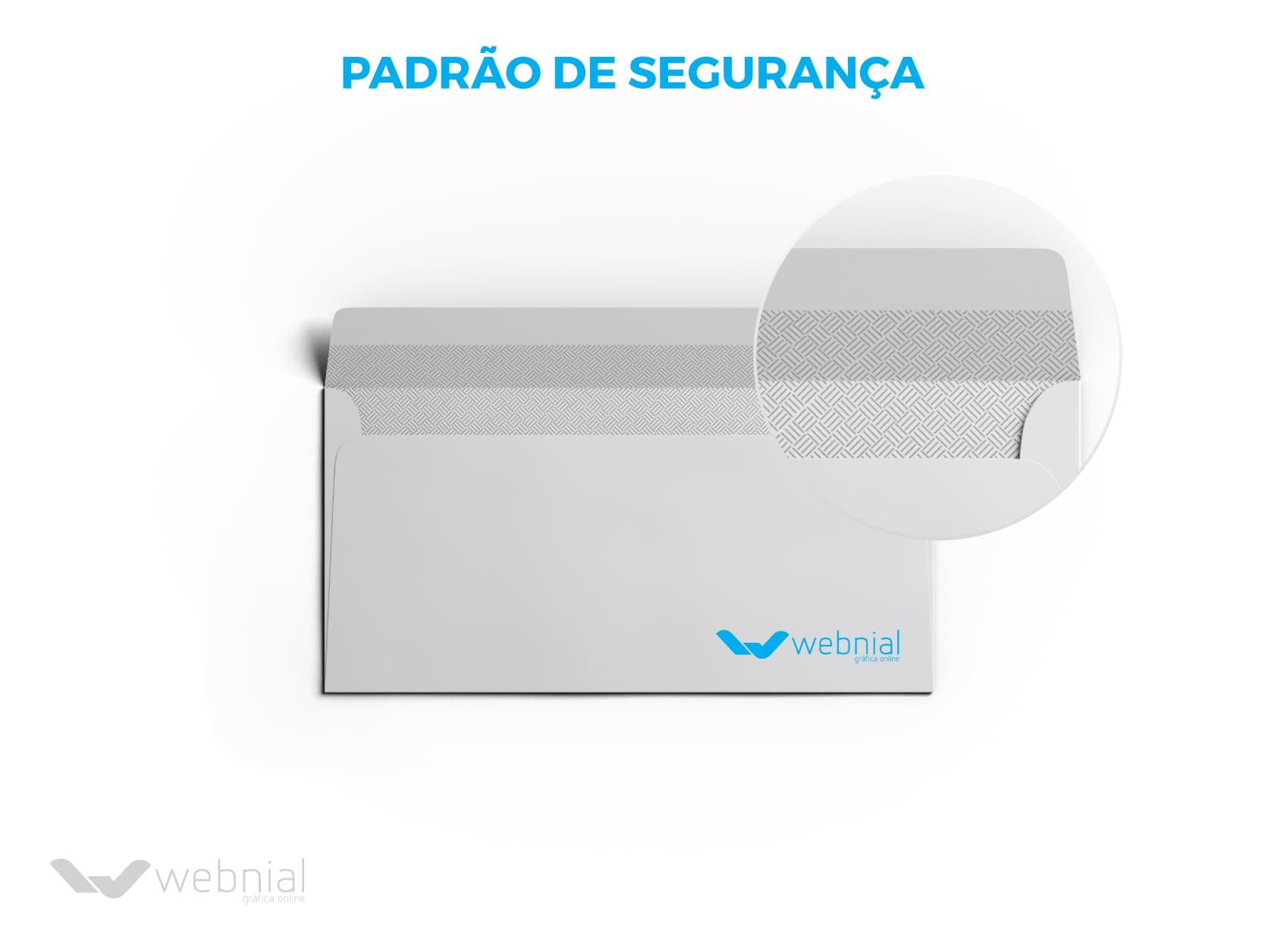 Envelopes Personalizados - Padrão de Segurança