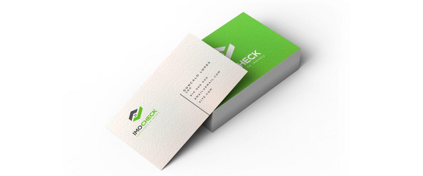 Cartões de visita com textura