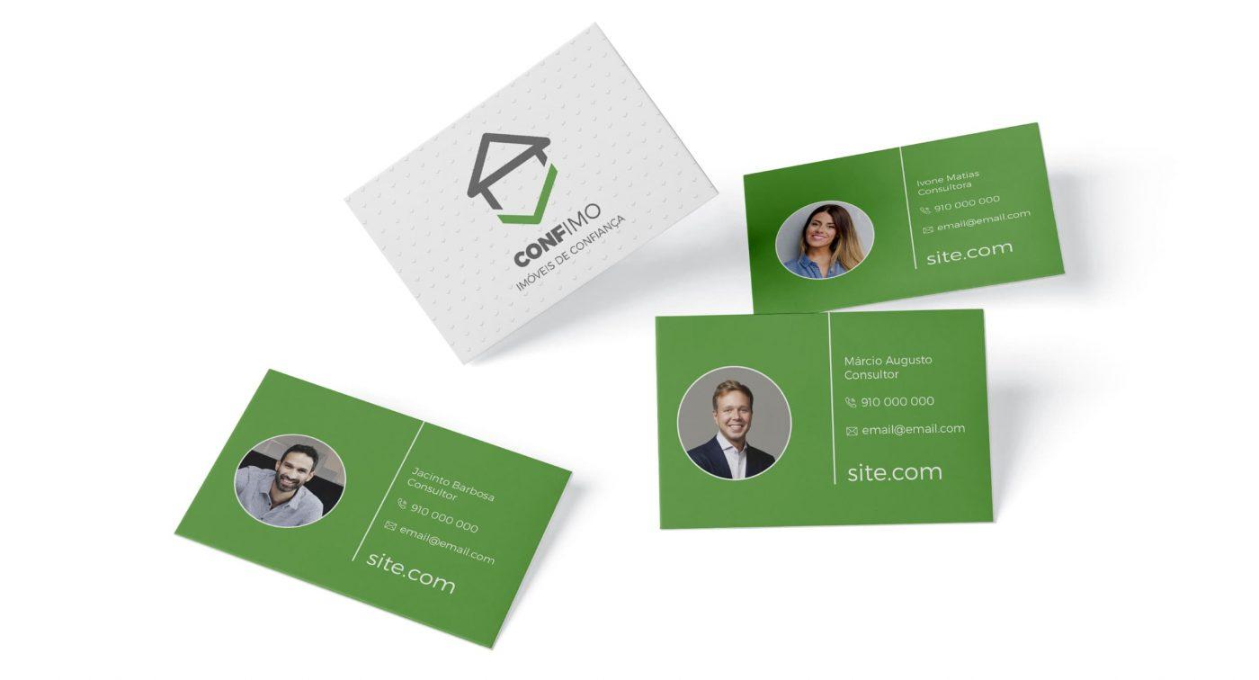 Cartões de visita para imobiliária exemplo
