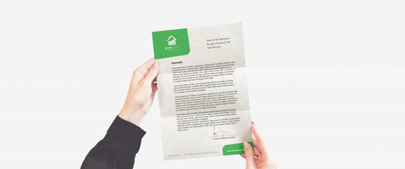 contrato em papel timbrado