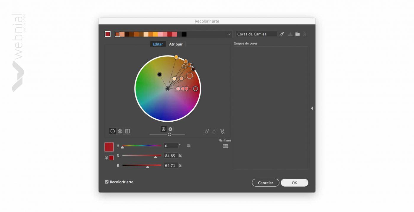 Editar cores