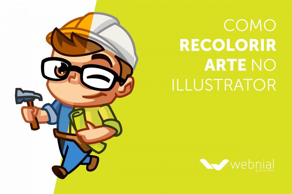 como recolorir arte no Illustrator