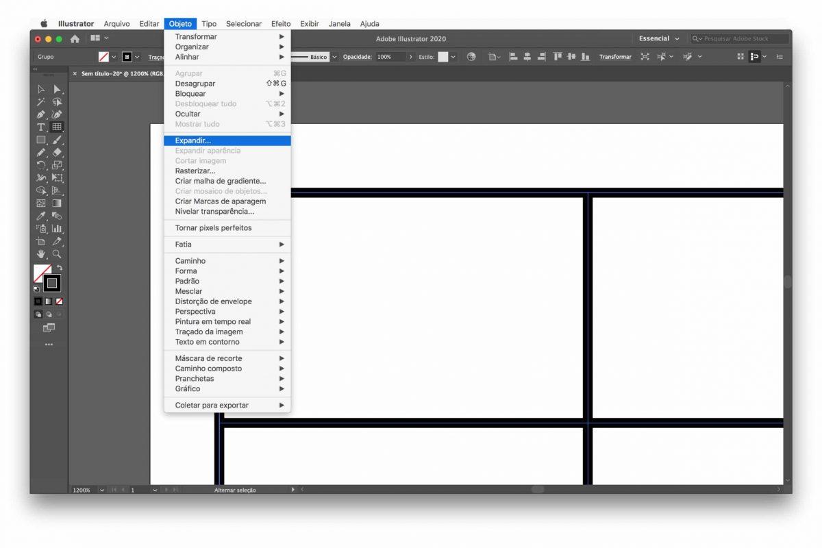 Expandir objecto illustrator