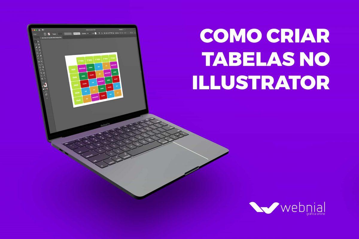 como criar tabelas no illustrator