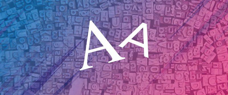 Tipos de letra com e sem serifa main